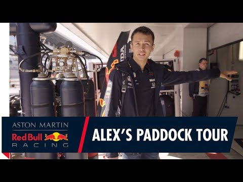 Image: Watch: Alex Albon takes you for a paddock tour in Russia!