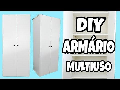 DIY ARMÁRIO MULTIUSO MUITO FÁCIL