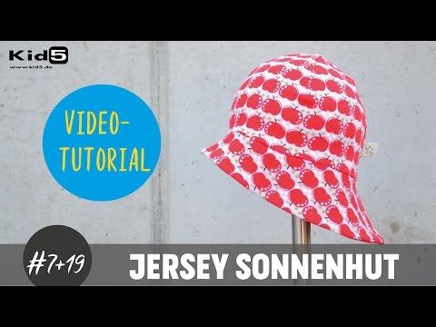 """""""Sonnenhut"""" aus Jersey für Babys und Kinder ganz einfach selber nähen  DIY-Näh-Tutorial"""