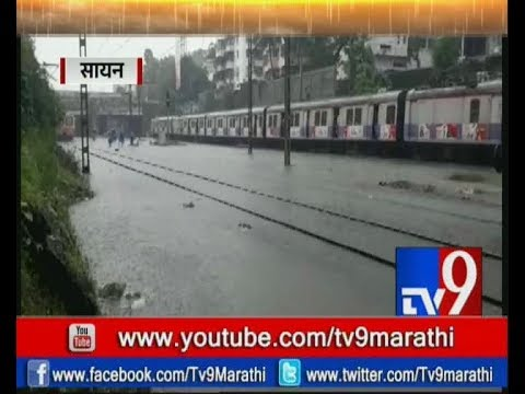 Mumbai Heavy Rains : Waterlogging at Sion & Matunga Railway Tracks-TV9