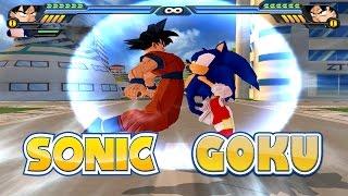 Goku and Sonic Fusion   Gokunic   DBZ Tenkaichi 3 (MOD)