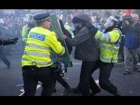 Police Vs. Protester In Wheelchair