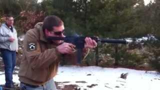 9mm AR-15 Pistol thru AAC 45 TiRant Suppressor