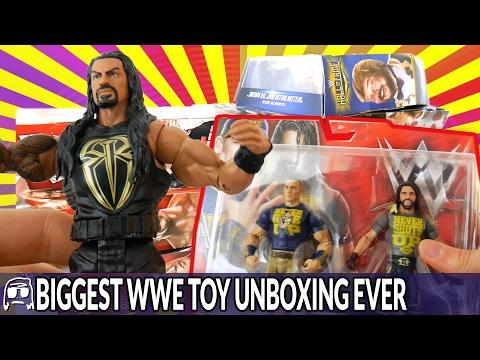WORLDS BIGGEST WWE TOY UNBOXING EVER - OVER 50 TOYS OPENED, REVIEWED and ROASTED! EPIC WWE TOYS!!