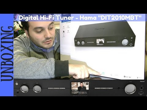 UNBOXING - Hama DIT2010MBT Digital Hi-Fi Tuner, Internet radio, DAB+, FM