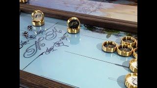 """Нарды """"Одесса-МК"""" стеклянные с эксклюзивным дизайном под заказ. Подарок другу на день рождения."""