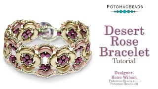 Desert Rose Bracelet- DIY Jewelry Making Tutorial By PotomacBeads