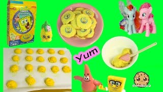 Baking Pineapple Flavored Spongebob SquarePants Sugar Cookies with MLP & Shopkins