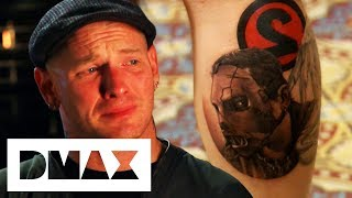 Corey Miller Pays Tribute To Slipknot Member With Portrait Tattoo | NY Ink