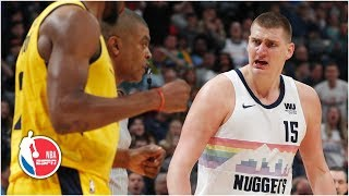 Nikola Jokic thrown out in 4th quarter after scoring 26 points | Pacers vs. Nuggets | NBA Highlights