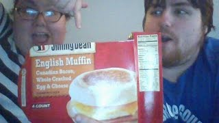 "The Microbear Gourmet Episode 66 ""Jimmy Dean Canadian Bacon English Muffin Breakfast Sandwich"""