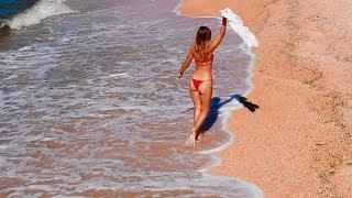 Отдых в Крыму! БУХТЫ в Щелкино поражают своей КРАСОТОЙ! Голубая глина в Широкой бухте. Азовское Море