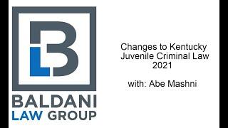 Changes to Juvenile Criminal Law 2021