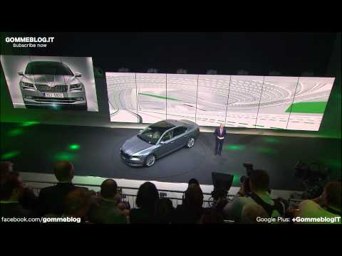 ALL-NEW Skoda Superb Press LIVE 2015 Geneva Motor Show
