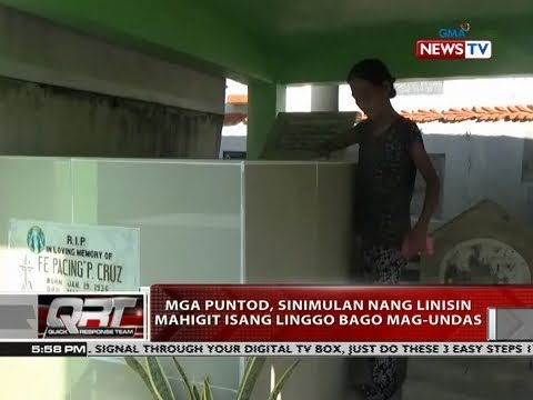 [GMA]  QRT: Mga puntod, sinimulan nang linisin mahigit isang Linggo bago mag-undas