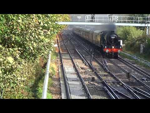 LMS 46100 'Royal Scot' passes Redhill with 'The Bognor Belle…
