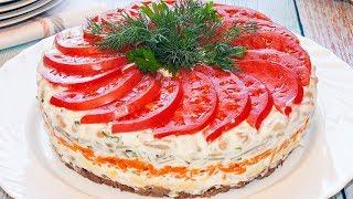 Авторский салат «Нежность» - Рецепт вкусного салата на праздничный стол