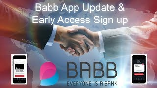 Babb App Update and Early Access sign up