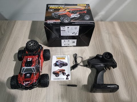 UNBOXING MGRC 1/18 2.4G 4CH 2WD Crawler RC Car - red