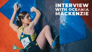 2020 IFSC Oceania Championships || Interview with Oceania Mackenzie by International Federation of Sport Climbing