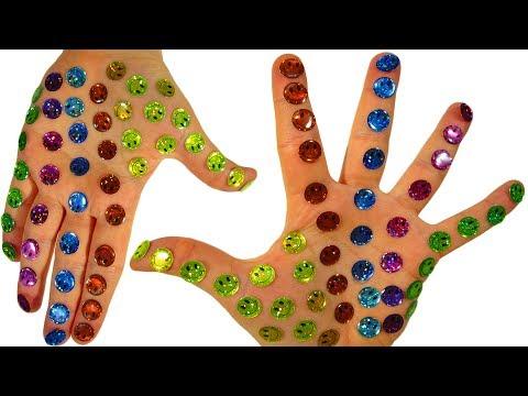 Развивающее видео Сборник Учим цвета на русском Клеим смайлики Поем песенку детям Семья пальчиков