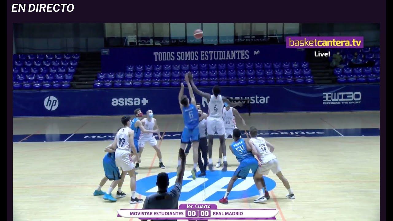 U16M - MOVISTAR ESTUDIANTES vs REAL MADRID.- Liga Cadete FBMadrid  (2/5/21) #BasketCantera.TV - Live