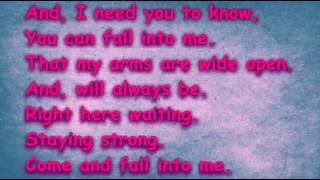 Fall Into Me By Emerson Drive Lyric Video