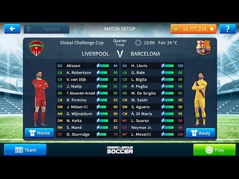 Barcelona vs Liverpool match on DLS 19