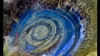 Eye of the Sahara Google Earth location map