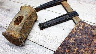 НЕ ВЫБРАСЫВАЙТЕ СТАРЫЕ ИНСТРУМЕНТЫ/ Восстановление кучи полезных инструментов