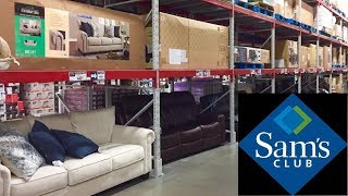 SAMS CLUB FURNITURE SOFAS COUCHES ARMCHAIRS HOME DECOR SHOP WITH ME SHOPPING STORE WALK THROUGH