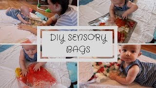 DIY EASY SENSORY BAGS | 4-6 Month Olds || Raising Roy