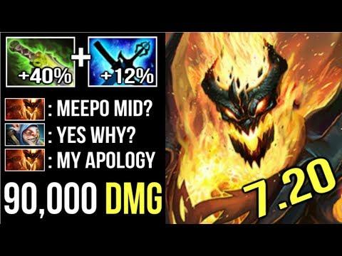 EPIC +52% Magic Damage 7.20 Kaya and Yasha Shadow Fiend Mid vs Meepo Insane Gameplay by Yawar Dota 2