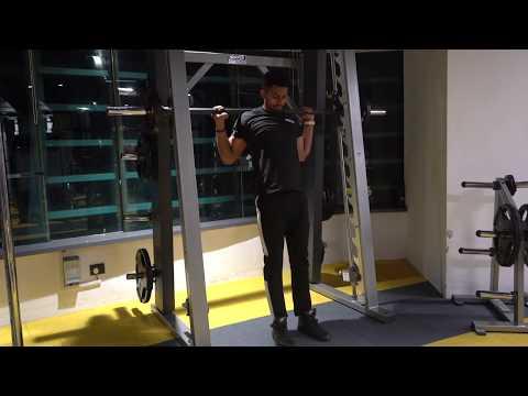 Smith machine narrow squats