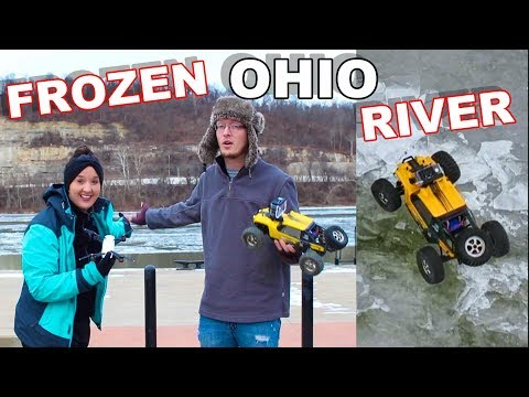 RC Truck Stuck - Frozen Ohio River - TheRcSaylors