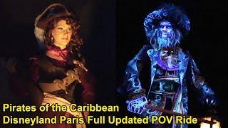 Updated Pirates Of The Caribbean Full POV Ride, Disneyland Paris 2017 - Low Light, Barbossa, Redhead