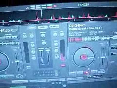 Scratching On Virtual DJ With iPod Touch (World's First Time-Coded iPod Touch / MP3!)