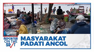 Hari Pertama Lebaran, Masyarakat Memadati Kawasan Ancol Jakarta Utara
