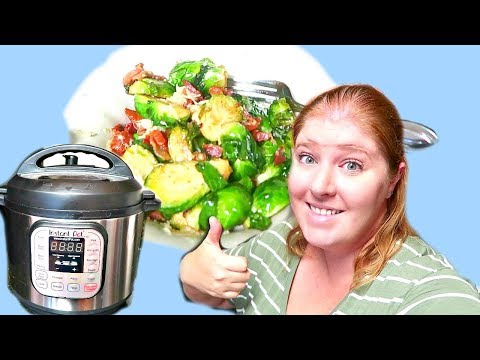 Easy Instant Pot Side Dish   Bacon Brussel Sprouts