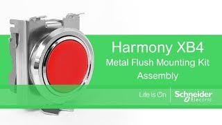 How to Mount Harmony XB4 Flush Pushbuttons
