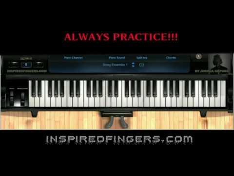 Gospel piano lesson intro with Joshua Okposo