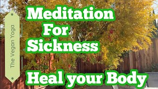 Guided Meditation for Sickness, Pain, Cold & Flu | Meditation Music for Morning Sickness