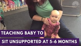 Teaching your baby to sit unsupported