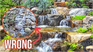 WATERFALL Done WRONG | Garden Water Feature