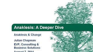 Anaklesis & Change: A Deeper Dive