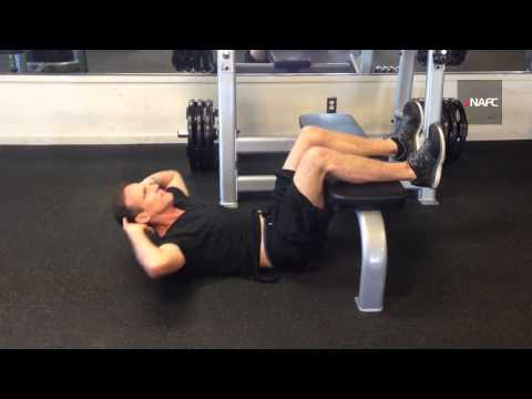 Crunch Legs Elevated On Bench