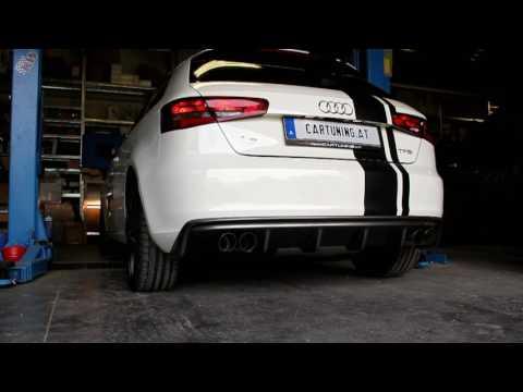 Audi A3 Typ 8V - 1.2 TFSI Sportauspuff vorher/nachher