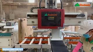 Giàn máy làm mộng âm 4 đầu siêu hạng tại nhà máy Nghĩa Kỳ Furniture