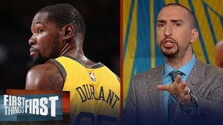 Nick and Cris react to Kevin Durant's remarks on the media & free agency   NBA   FIRST THINGS FIRST
