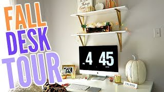 FALL DECORATE WITH ME! IKEA DESK DECOR AND TOUR! COPPER AND GOLD DECOR!